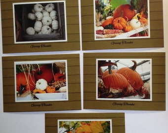 5 Giving Thanks Photo Cards with Envelopes