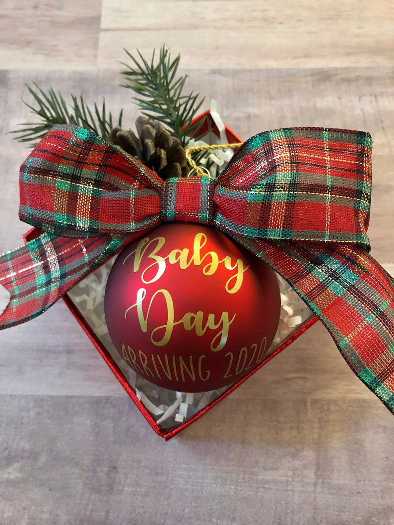 Pregnancy Announcement Ornament Pregnancy Announcement Grandparents Grandparent Reveal Baby Reveal Pregnancy Announcement Ornament