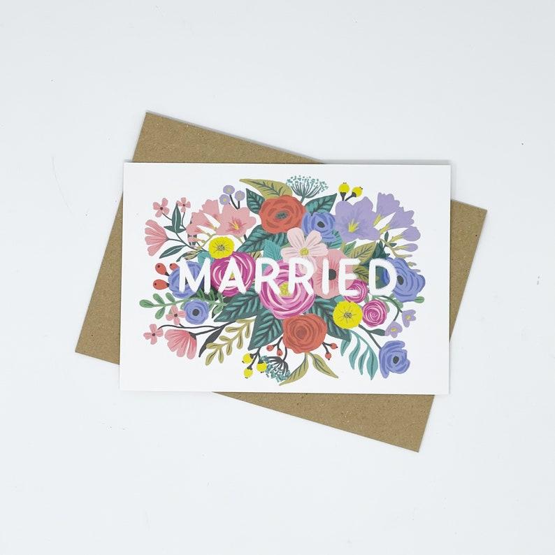 Married Card Married Floral Wedding card Wedding card