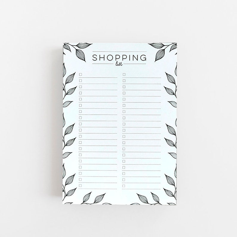 0621dce3b846a Shopping List - List Pad - Notepad - Gift Notepad - Mothers Day Gift -  Kitchen Notepad - Grocery List - To Do List Notepad