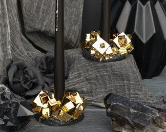Pyrite Candle Holder