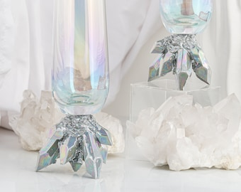 Crystal Champagne Flutes (Set of Two)