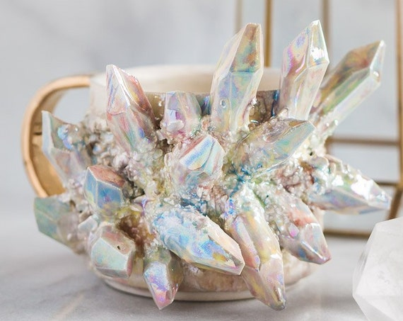 Made-To-Order: White Opal Crystal Mug