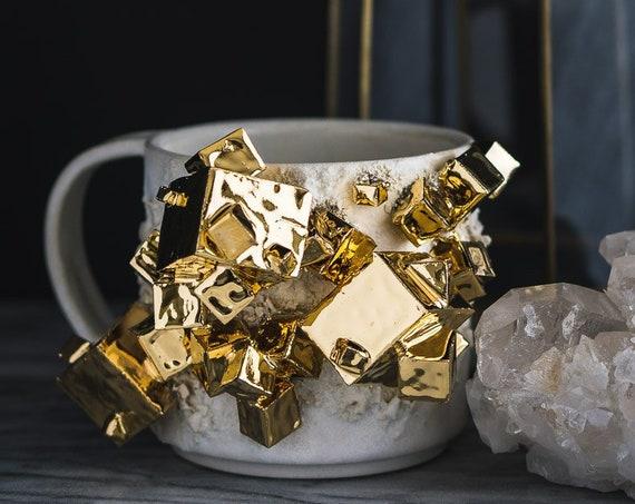 Made-To-Order: 22kt Gold Pyrite Mug