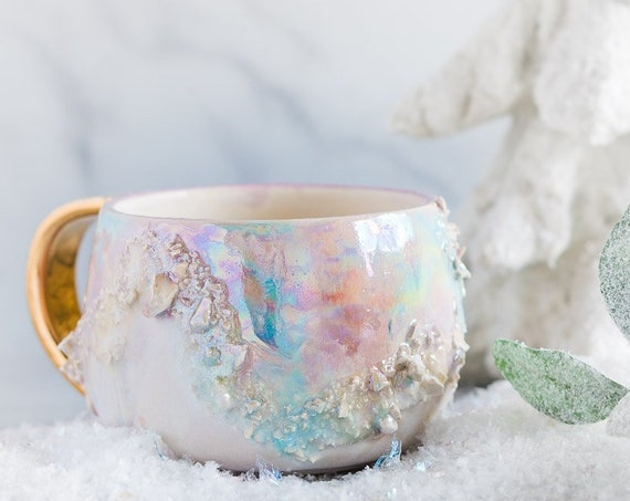 Made-To-Order: White Opal Gem Mug