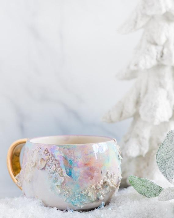 Made To Order: White Opal Gem Mug by Etsy
