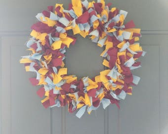 Handmade fabric wreath