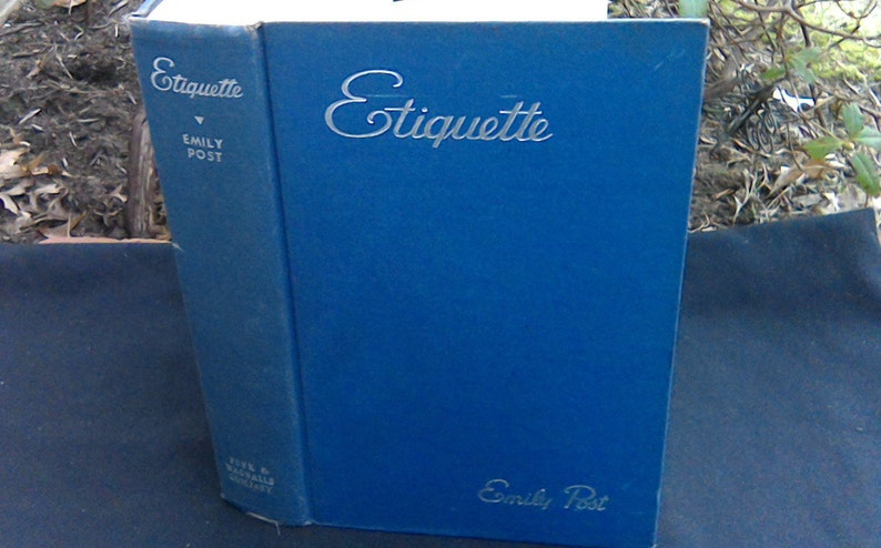 Emily Post Wedding Etiquette.Emily Post Etiquette Book 1949 Wedding Planning The Blue Book Of Social Usage Good Manners Wedding Planning Bachelorette Bridal Shower Gift