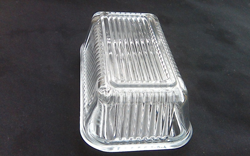Kitchen Fridge Storage Glass Butter Dish REVERSIBLE PASABAHCE Turkish Glass  Clear Glass Refridgerator Storage Use Either Way Up