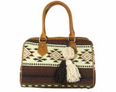 Brown doctor bag, Brown boho bag, Boho Brown Doctor Bag, Ethnic bag, Ethnic Doctor bag, Boho hand bag, Leather boho bag