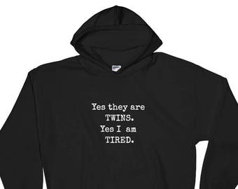 Real Men /& Women Make Twins Funny Father /& Mothers to Be Dad /& Mom Matching Couples Hoodies