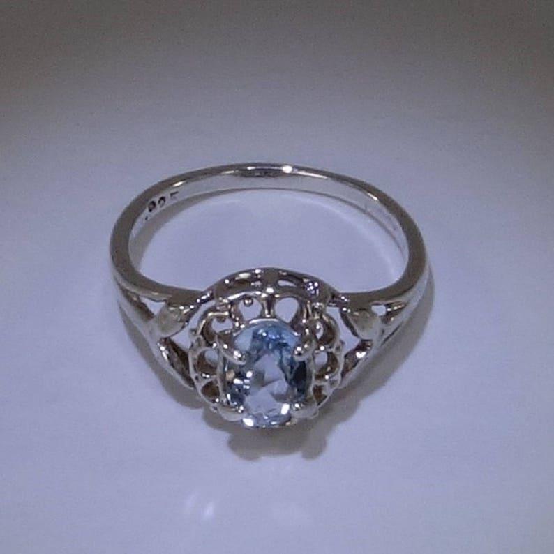 aquamarine jewelry Aquamarine ring Aquamarine and Sterling Silver Ring MR1700