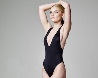 5e738ba929995 One Piece Swimsuit Women Bodysuit Petite Black Bathing Suit