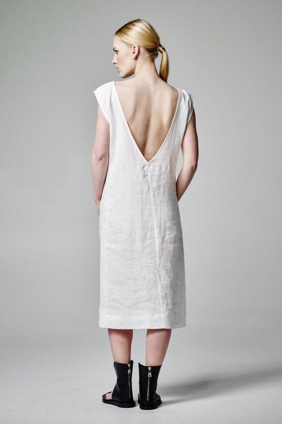 White Linen Dress Linen Wedding Dress Boho Wedding Dress