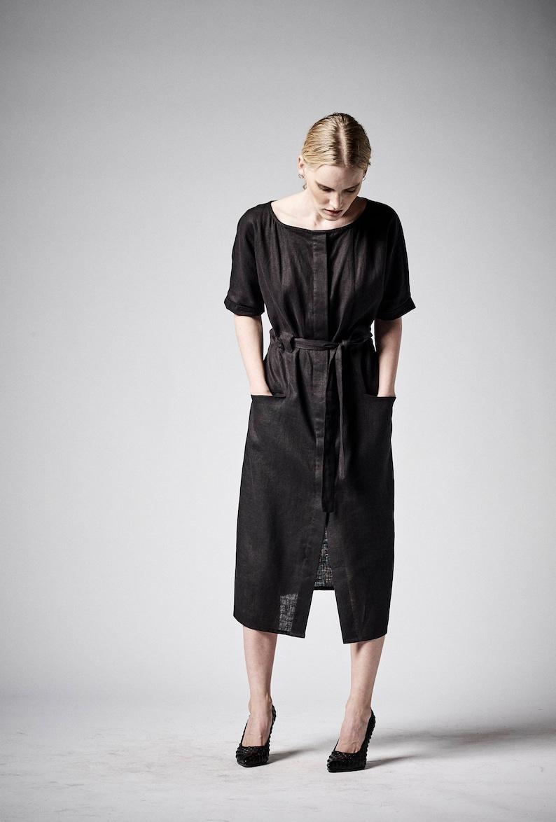 5d6461d1007 Linen Dress Black Dress Women Linen Dress Plus Size Linen
