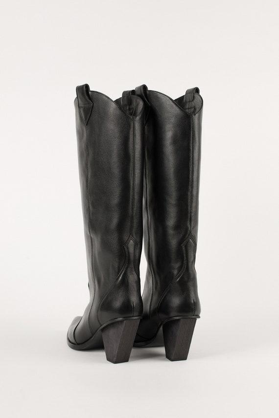 Stiefel Von Frauen Rote Western Cowboy Play Natürliche Lederstiefel Won't Pixie DHYW2IE9
