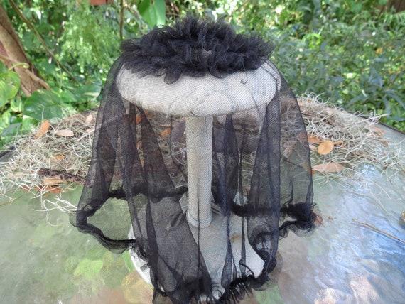 Antique Black Hair Net - Fine Net Hair Cover - Vin