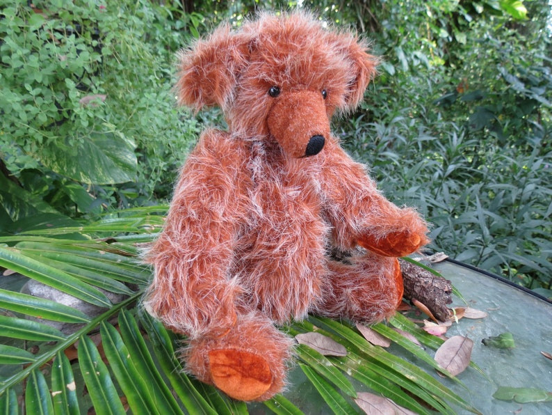 Cute One of a Kind Fully Jointed Bear OOAK Fuzzy Plush Bear