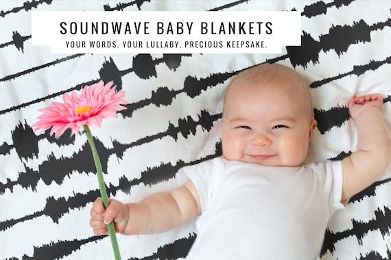Custom Blanket Design Sound Art Custom Sound Wave Art Modern Home Decoration Personalized Blanket Voice Print Custom Soundwave Art