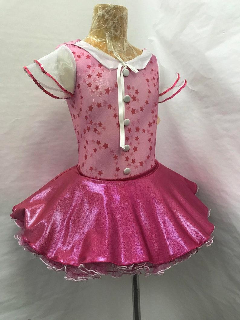 Competitve Dance Costume  Solo Costume  Skating Costume  Rhythmic Gymnastics Costume Children  Child Pink Costume  Ice Dance Dress