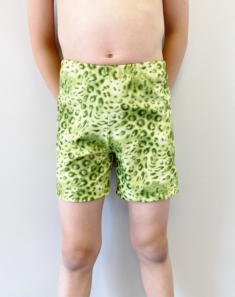 Green Chameleon Boys Swim Shorts