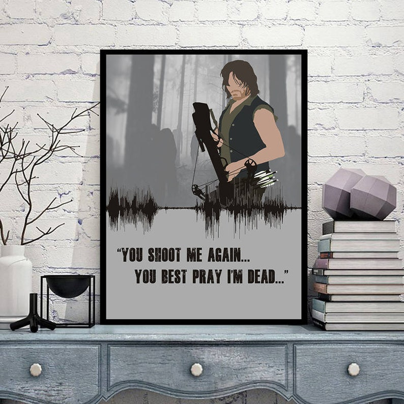 THE WALKING DEAD ZOMBIES ARTWORK TELEVISION POSTER MAIN FILM A4 A3 ART PRINT