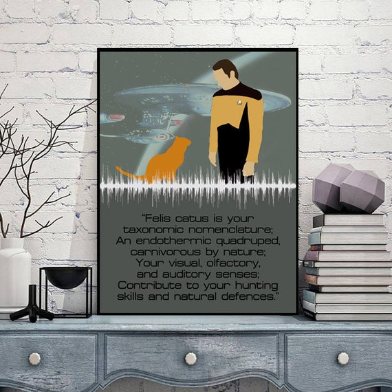 star trek next generation data spot sound wave minimalist tv etsy