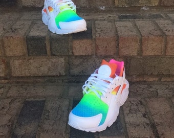 ff4ed0853147 Custom Rainbow Huaraches