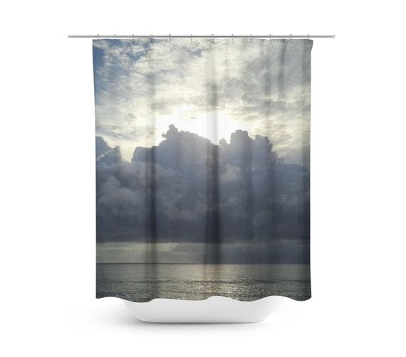 Ocean Shower Curtain Cloud Photo