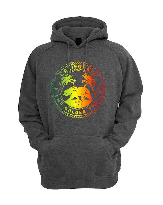 California Golden State Colorful Design Unisex Hoodie