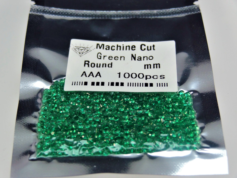 Vente en gros pierres des pierres gros vert nanocristal rond taille brillant brillant choix lâche 437ae5