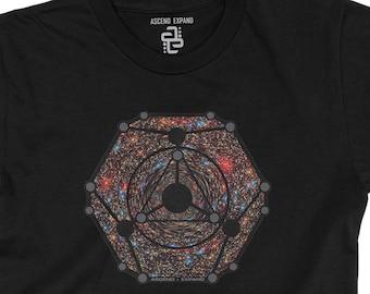 Behemoth Black Hole T-Shirt ~ space ~ sacred geometry clothing ~ universe ~ stars ~ dimension