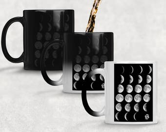 Moon Phases - Morphing Mugs-  Color Changing Mugs - Ascend Expand