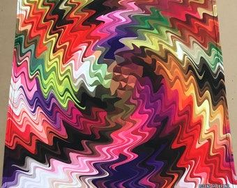 """Swirl Drip  BANDANA - 24""""  Bandana - Recycled Fabric / Ascend Expand / Burning Man / Psychedelic Art"""