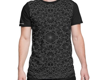 Shadow Dance -  All Over Print Tee -  Trippy - lsd - Pattern - Festival Clothing