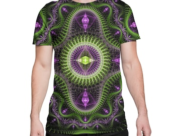 Psy Green - Psychedelic Sacred Geometry All Over Print EDM Rave Festival Clothing
