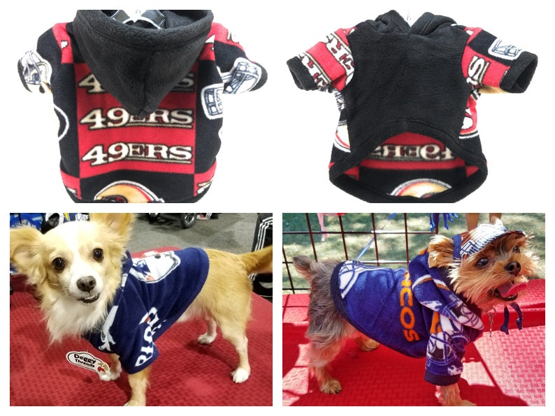 premium selection d97f5 c0ba3 49ers dog hoodie
