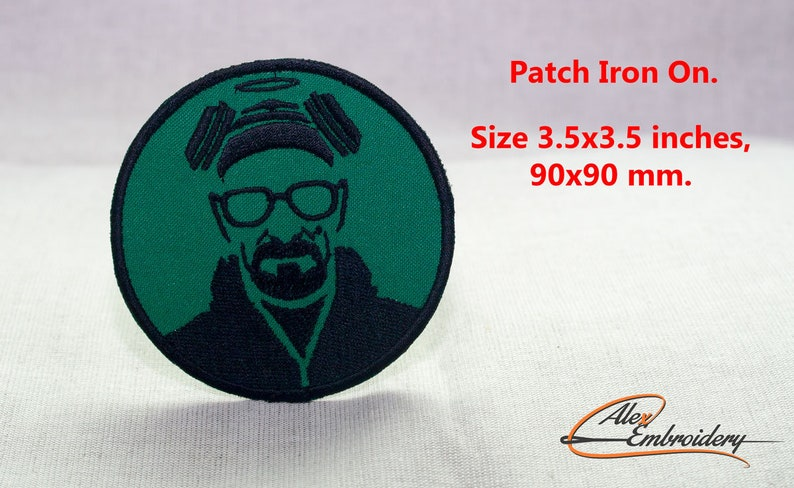 Patch iron-on  Breaking bad  Circle 3 5x3 5 inches  90x90 mm