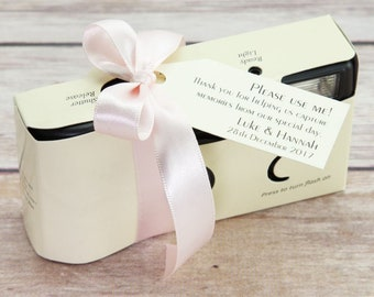 Personalised Ivory Disposable Camera - Wedding Camera - Single Use Camera - Disposable Camera - Wedding Table Decorations - Wedding Camera