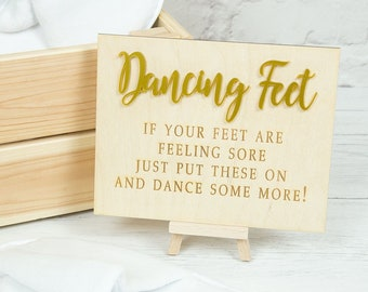 42977441fe916c Dancing Feet Wedding Sign - Flip Flop Basket Sign - Wedding Slippers Box -  Wedding Signs - Wooden Wedding Boards - Personalised Wedding