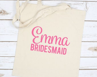 Bridesmaid Tote Bag - Bridesmaid Bag - Bridesmaid Gift - Tote Bag - Bridesmaid Gift Bag - Bridesmaid Box Gift - Bridal Shower Gift