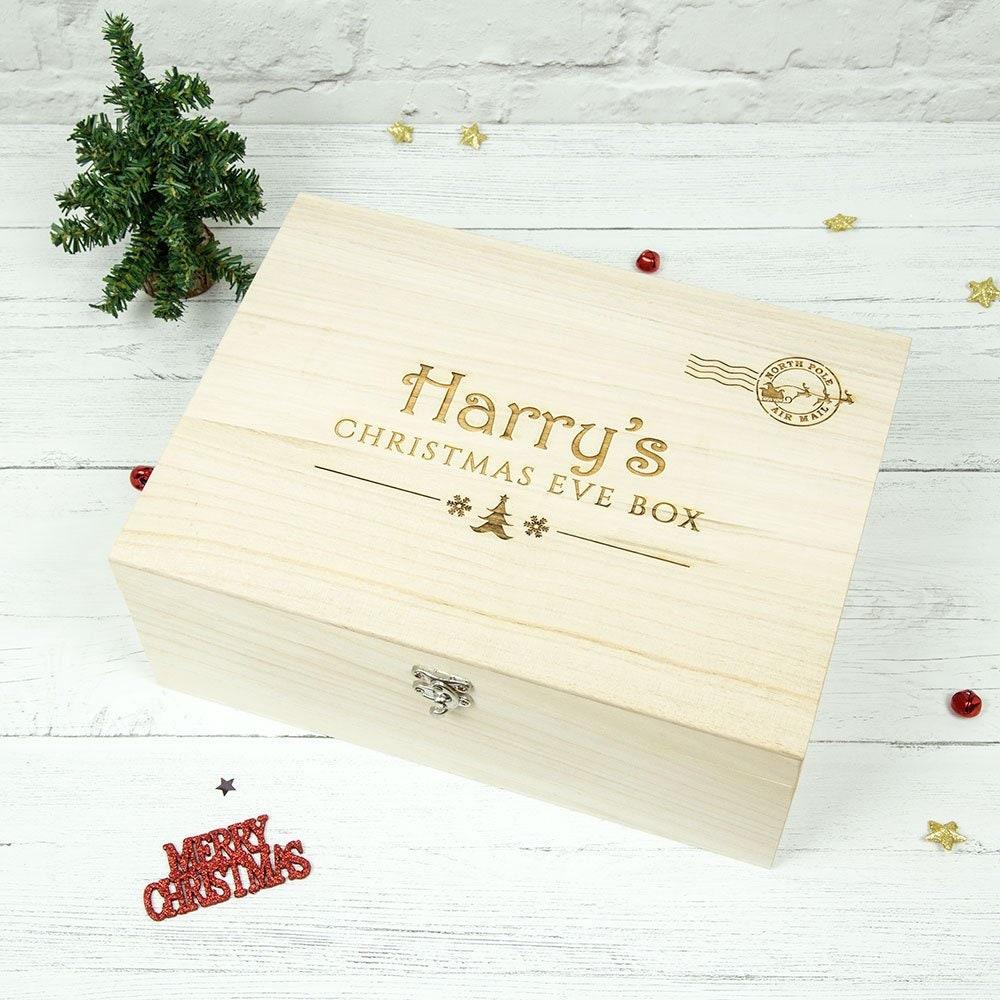 Wooden Christmas Eve Box Personalised Christmas Eve Box | Etsy