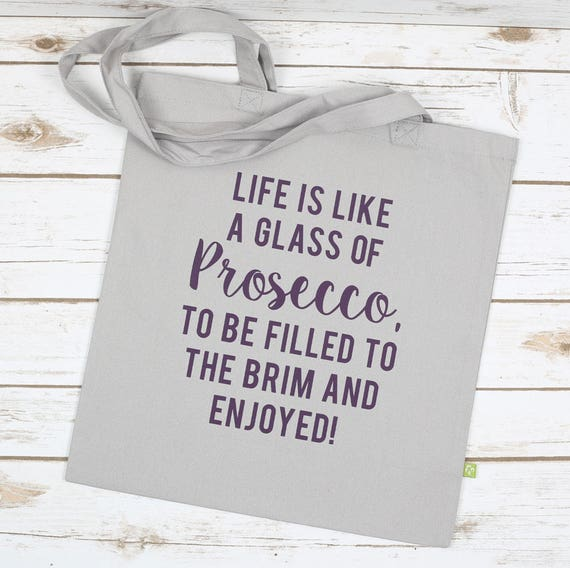 Prosecco Tote Bag Life is like Prosecco Tote Bag Luxury   Etsy 057d088397