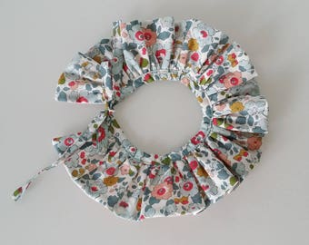 Reversible pierrot collar with pretty knot (removable)