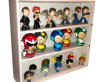 MYSTERY MINI White Stackable Funko Pop Display Toy Shelf for Vinyl Collectibles, Corrugated Cardboard
