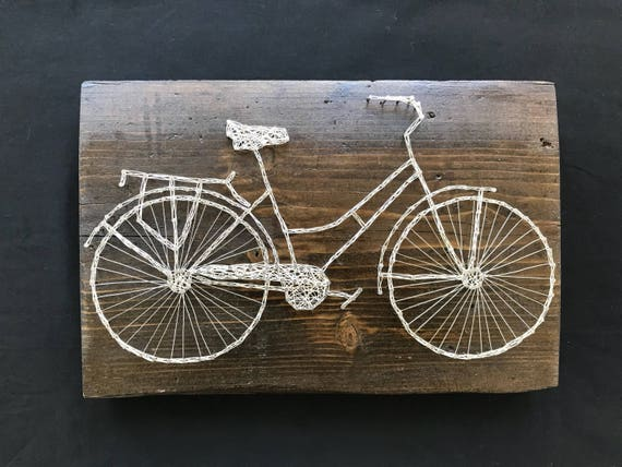 Fahrrad / Draht Zeichenfolge Kunst / Kunst Draht /   Etsy