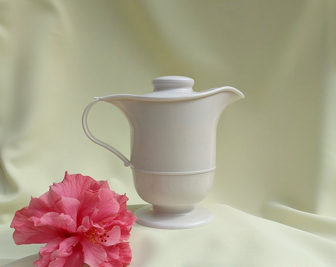 Vintage Retro Thermal Pitcher Pot - Cream Off White