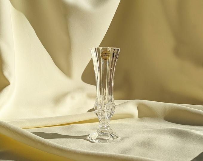 Vintage Made In France Cristal d'Arques Crystal Vase - Clear