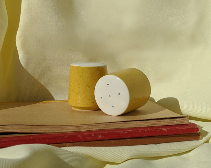 Made In Japan Vintage Retro Salt and Pepper Shaker - Yellow