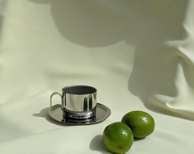 Made in Italy Italwaber Tea Espresso Cup - Stainless Steel Silver